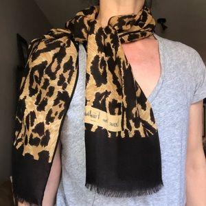 Diane von Furstenberg Wool Leopard Spotted Scarf